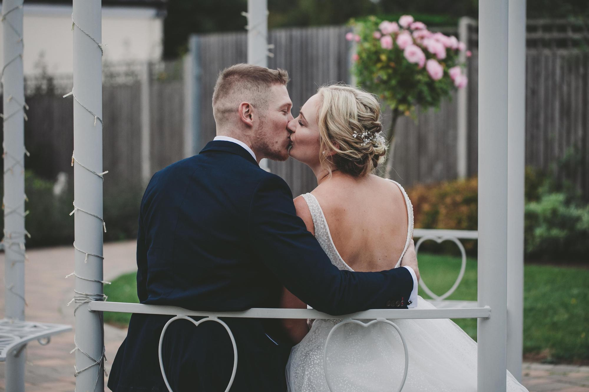 First kiss at Mr and Mrs at Applewood Hall