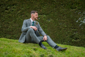 Groom in Tweed Suit at Applewood Hall