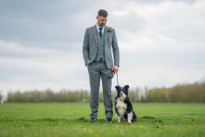 Groom ad his dog at Applewood Hall