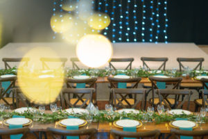 Rustic banquet wedding reception