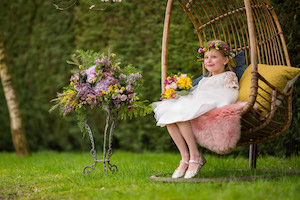 Flower Fairy in Vintage Hanging Chair