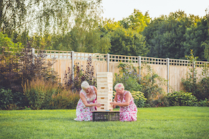 Garden games at Applewood Hall
