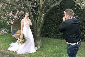 Richard Jarmy Capturing Spring Bridal Shoot at Applewood Hall