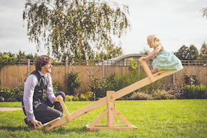 Rustic Seesaw at Applewood Hall
