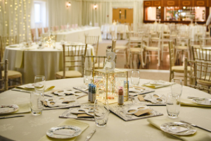 Use lighting to set the scene for your wedding reception