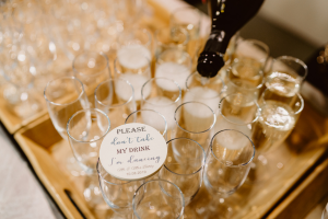 Welcome your evening wedding guests with a drink